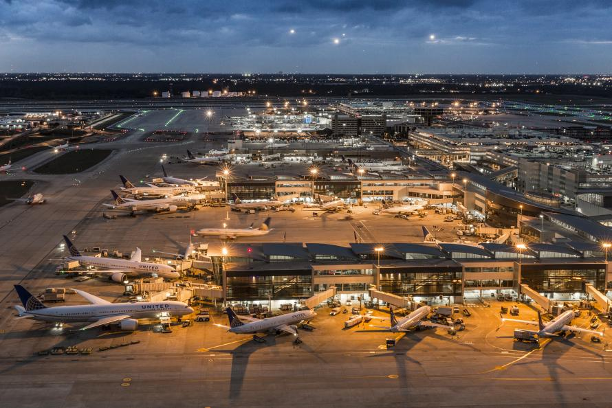 Aerial view of George Bush Intercontinental Airport